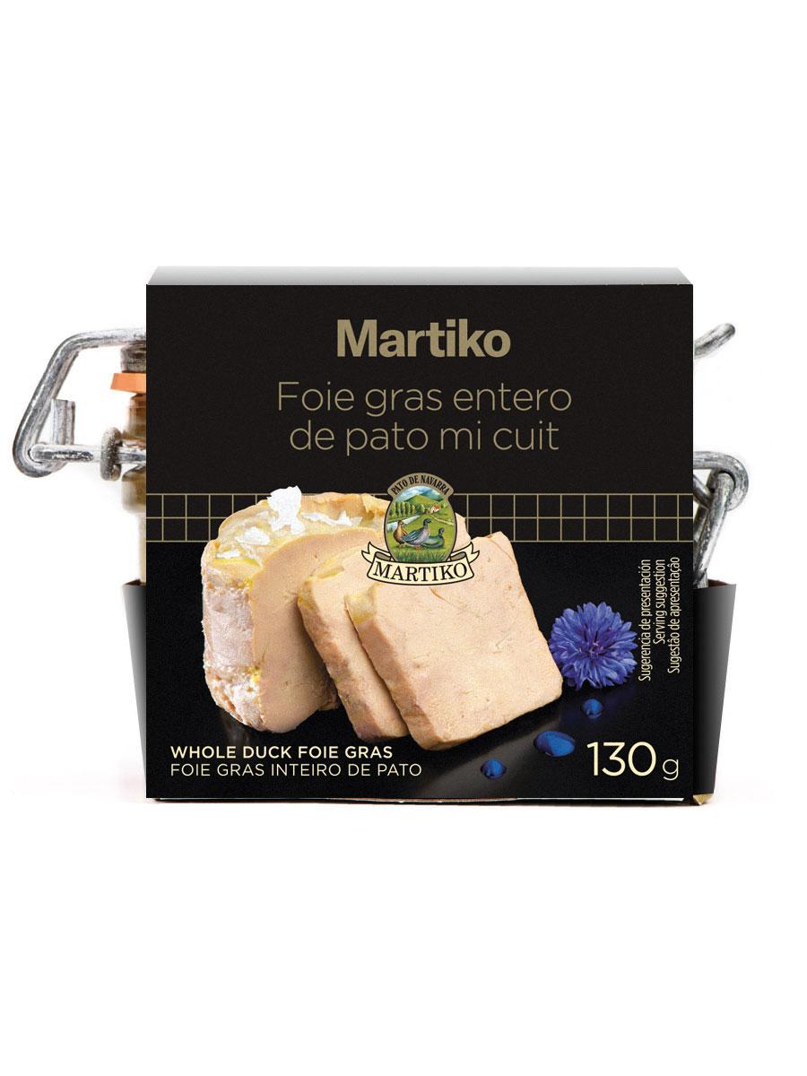 Foie Gras Inteiro De Pato Pote 130g Martiko