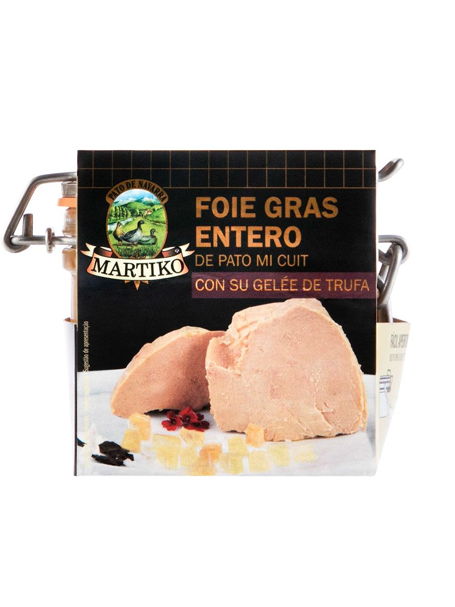 FOIE GRAS ENTERO PATO CON GELE TRUFA 200G