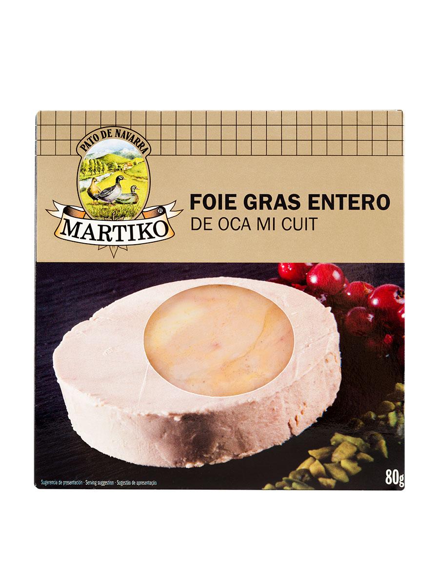 FOIE GRAS ENTERO DE OCA 80G