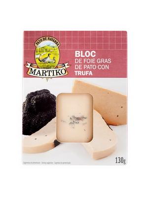 BLOQUE DE FOIE GRAS ENTERO DE PATO CON TRUFA. 130 G. BLISTER