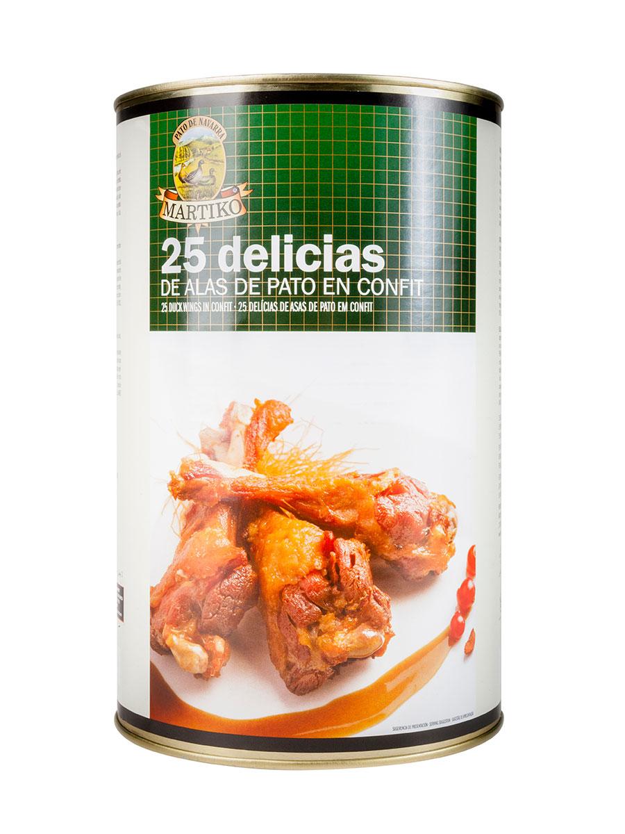25 DELICIAS DE ALAS DE PATO EN CONFIT. LT