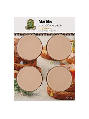SURTIDO P.PATO+CEBOLLA+C.CONFIT+OCA MARTIKO 4X75G