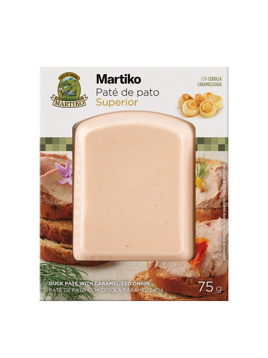 PATE DE PATO CON D. CEBOLLA MARTIKO SUP 75G