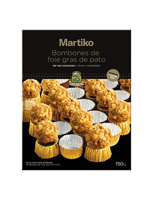 BOMBON DE FOIE GRAS BARQ.750g 90-100 UNID.ESTUCHE