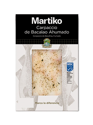 CARPACCIO DE BACALAO AHUMADO MSC 80G