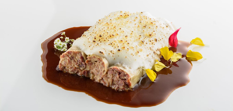 Canelones de foie y carne de pato