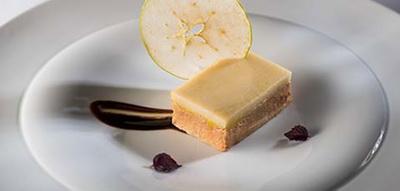 Mi cuit de foie con gelatina de manzana
