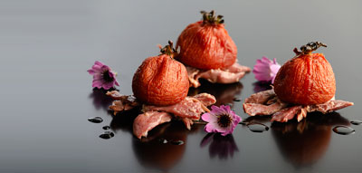 Confit de pato con tomates semisecos