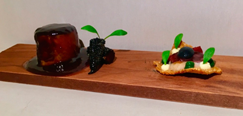 Magret de pato, maíz y cilantro