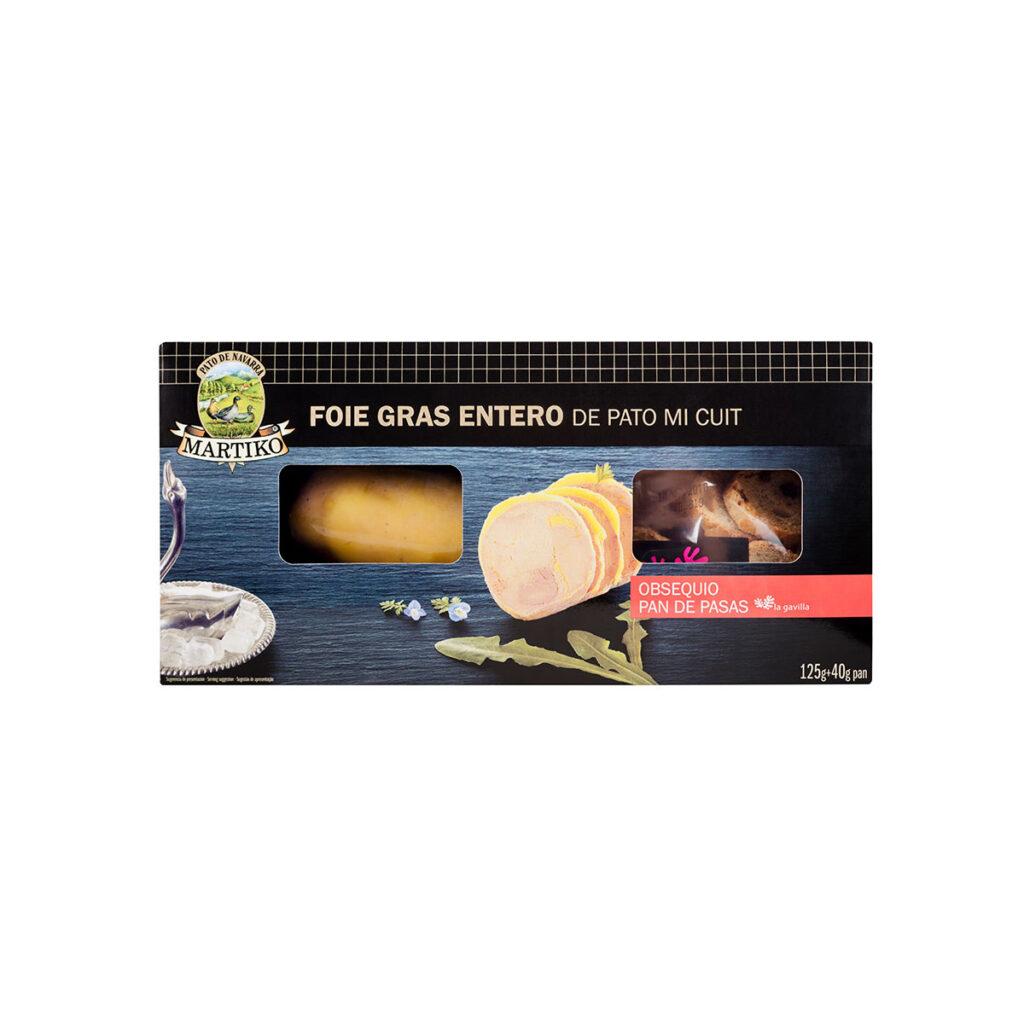 FOIE GRAS ENTERO MI CUIT 125 G + REGALO PAN DE PASAS - Martiko