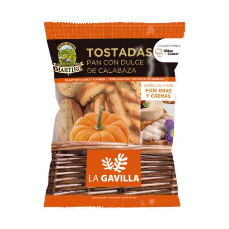 PAN TOSTADO con dulce de CALABAZA MARTIKO