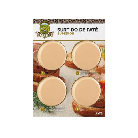 SURTIDO PATÉ SUPERIOR PATO Martiko:Pato, Cebolla, carne de pato, oca
