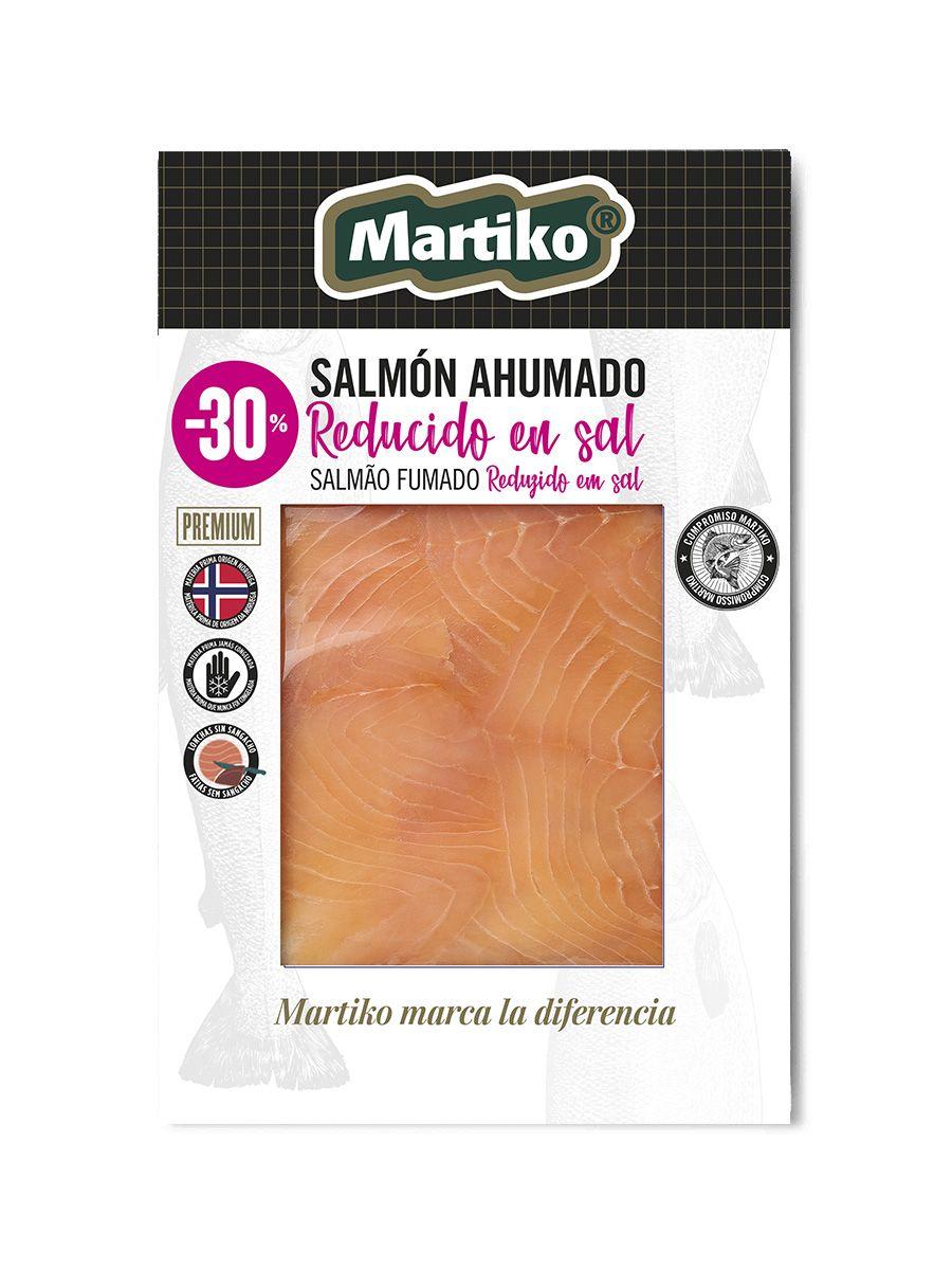 Gama Saludable Martiko - salmon ahumado bajo en sal