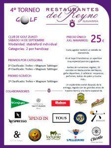 Martiko colabora con el 4º Torneo de Golf Restaurantes del Reyno (Navarra)