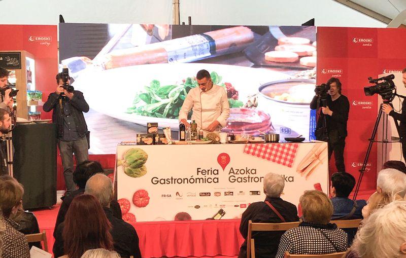 Showcooking de Martiko durante la Feria Gastronómica de Producto Local de Navarra
