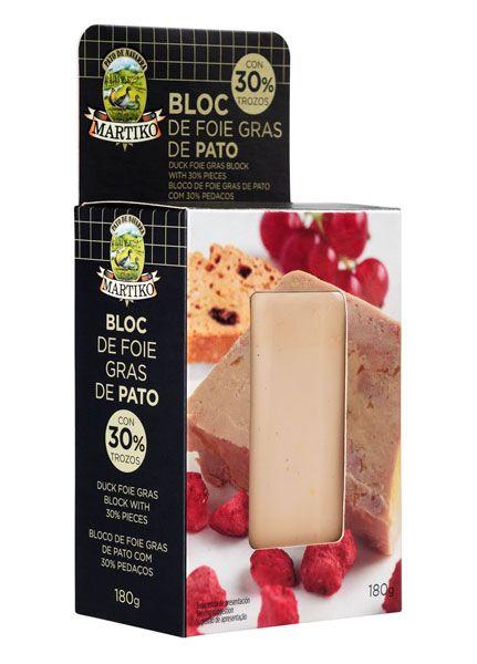 Bloc de foie gras de pato con 30% de trozo